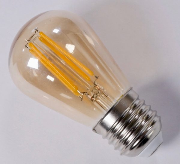 ST45 LED low energy light bulb with vintage style amber glow