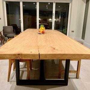 Massive Oak slab dining table