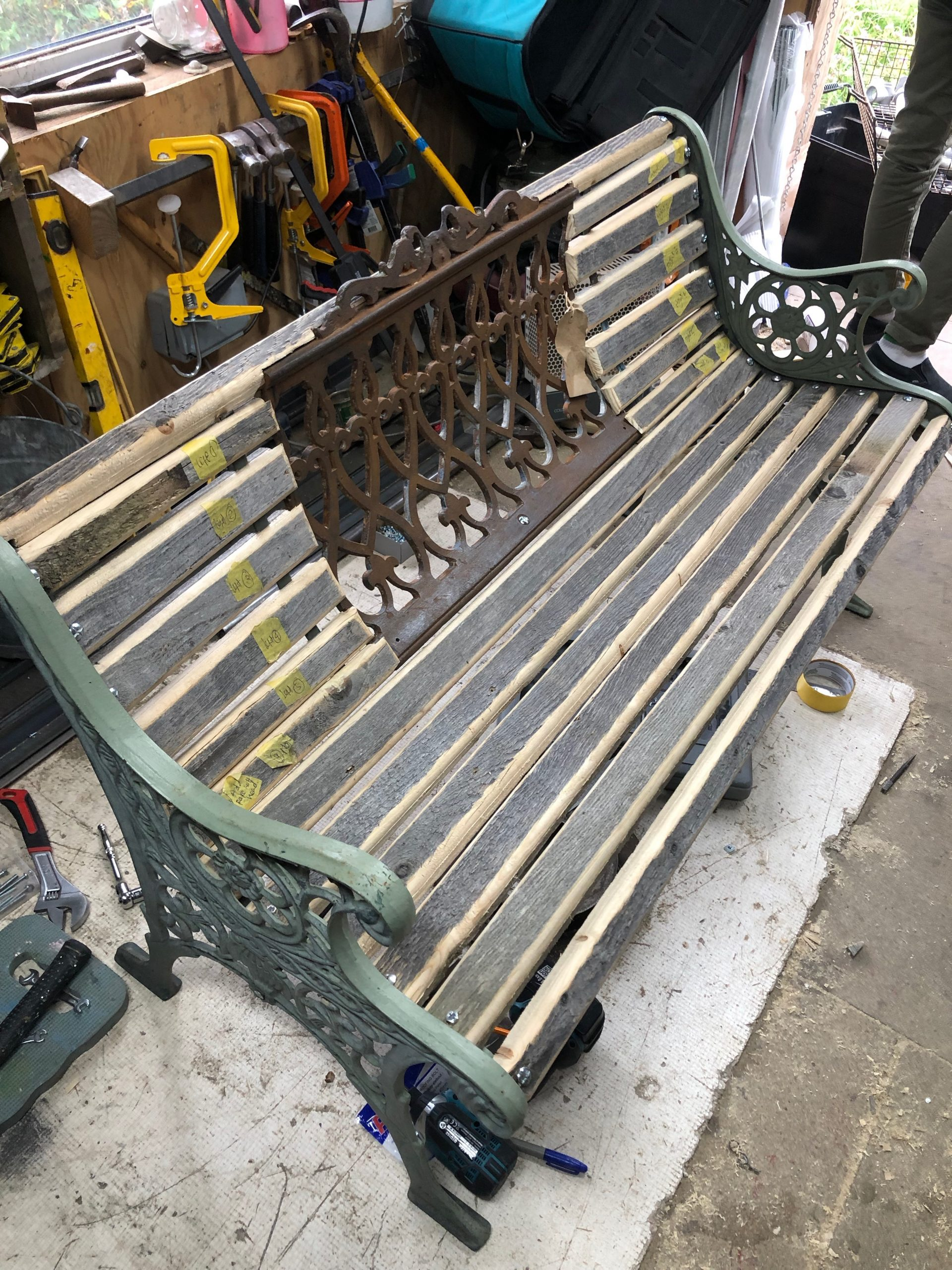 Brighton west pier salvage made into a bench