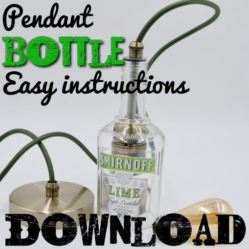 How to make a pendant bottle light tutorial download