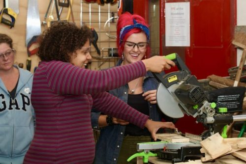 Learn to use powertools safely with the salvage sister