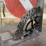 mild steel & motorbike brake disk shelf bracket