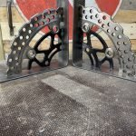handmade industrial style motorbike parts shelf brackets